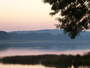 Zachód słońca nad jeziorem Somińskim.